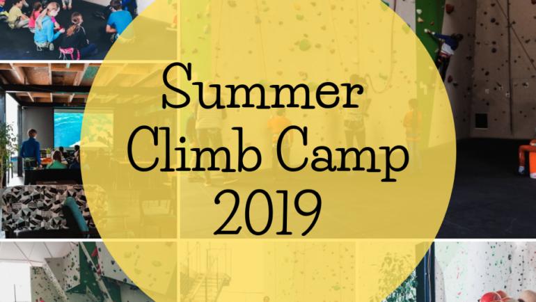 ☀️SUMMER CLIMB CAMP 2019!☀️
